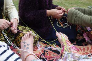 Braiding Mother Blessing bracelets