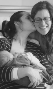 Kiss from a grateful mama after a beautiful VBAC birth at Hereford Hospital