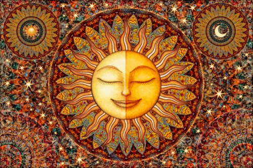 Tapestry of sun and moon