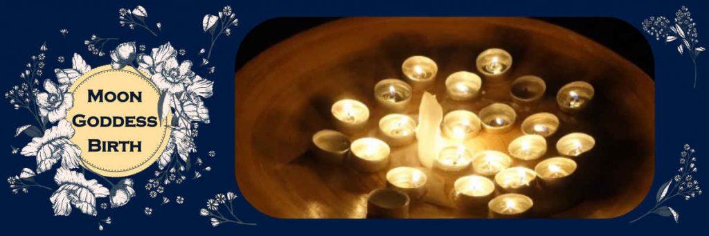 sacred candles burning