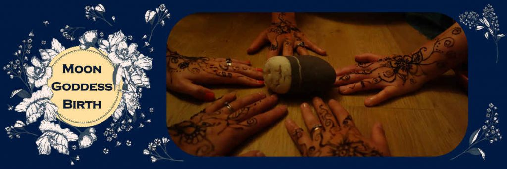 Henna hands and rock