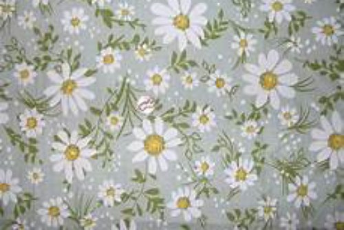 Daisy print on cotton