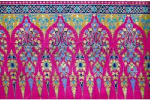 Indian pink patterned silk