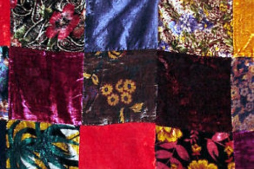 Velvet patchwork fabric
